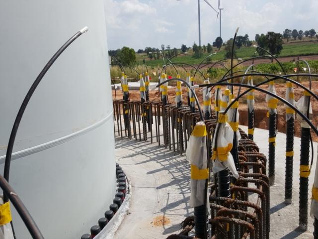 Windturmfundament Verankerung mit DYWIPOX SPK2